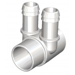 Water Manifold 25 mm - 2 X 19 mm port (Side by Side)