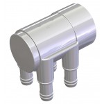 Water Manifold 50 mm Slip-Plugged - 4 X 19 mm port