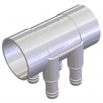 Water Manifold 50 mm Slip/Slip - 4 X 19 mm port