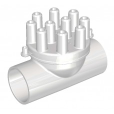Air Manifold 25 mm Slip/Slip - 10 X 10 mm port