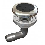 O2 Spa Pool Air Injector - Graphite/Stainless Steel