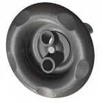 Excess 84mm Spa Twin Spin Pool Jet Grey